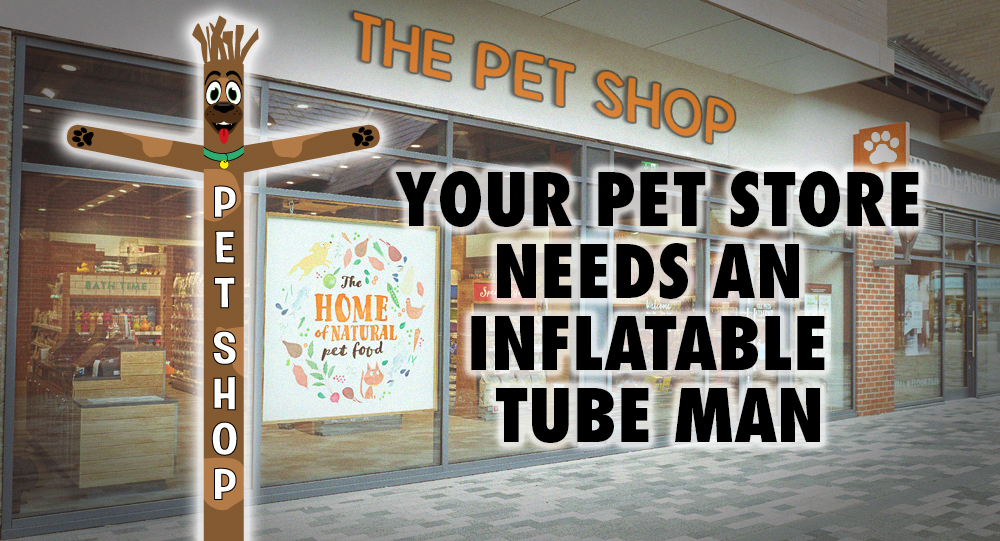 pet store inflatable tube man