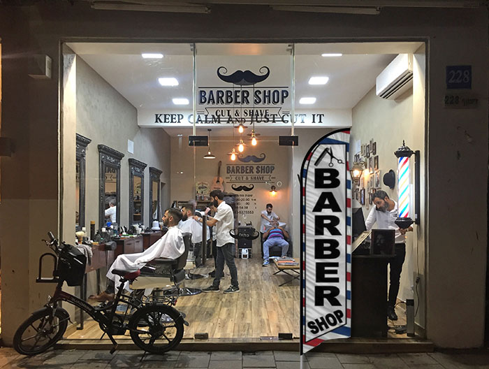 barber shop store front