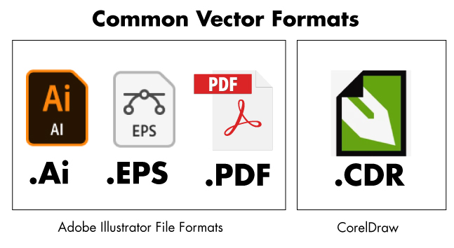 Different vector formats