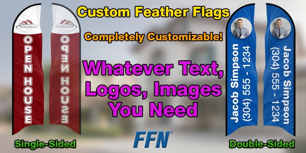 Custom Feather Flag Options