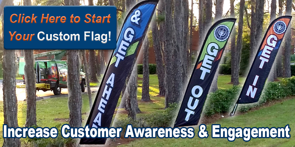 Encourage New Customers with Custom Feather Flags