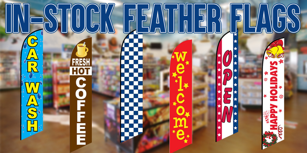 In-Stock Feather Flags