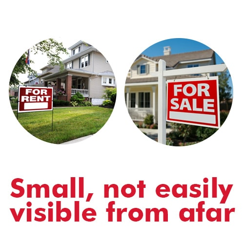 Small Real Estate Signs