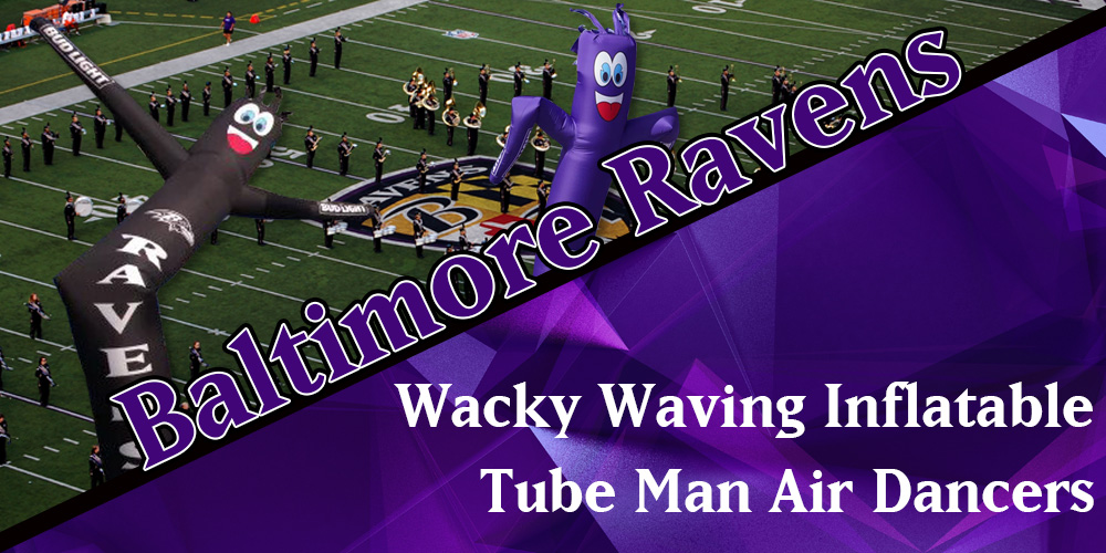 Baltimore Ravens Wacky Waving Inflatable Tube Men Air Dancers
