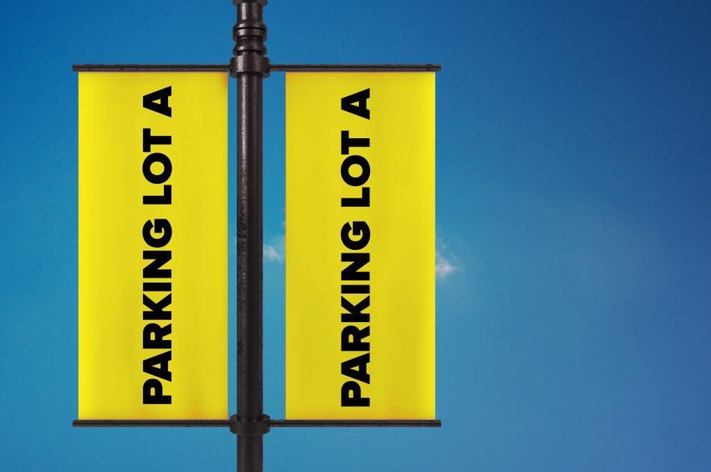 PARKING LOT AVEBANNER FOR STADIUMS