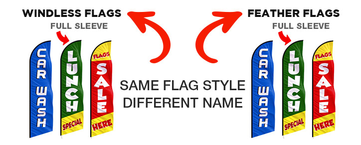 Windless-flags-vs-feather-flags