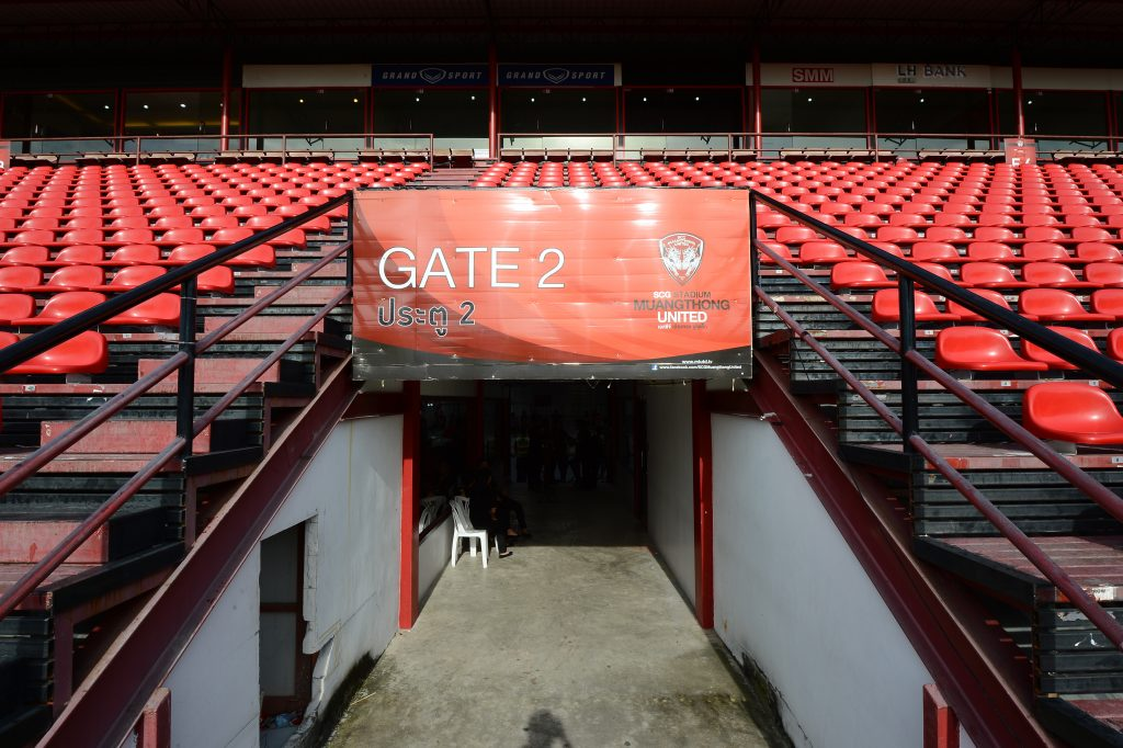 INFORMATIONAL AND DIRECTIONAL BANNER IN STADIUM