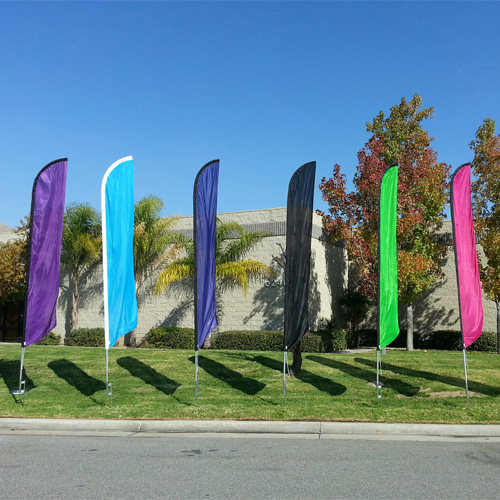 solid colored feather flags