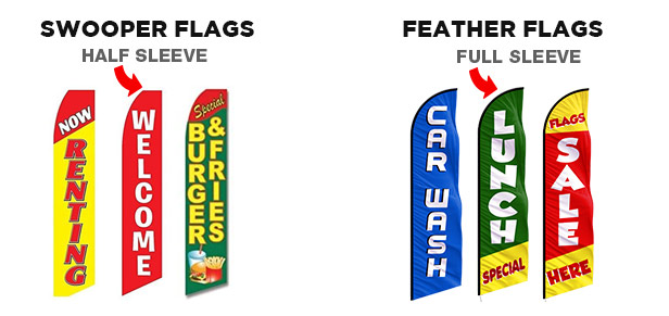 swooper flags vs feather flags