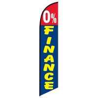 0% Finance feather flag
