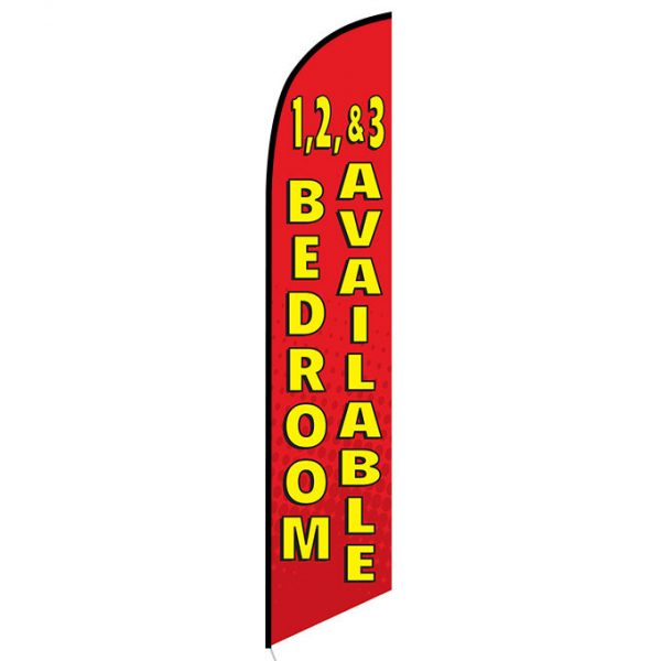 1 2 and 3 bedroom available feather flag