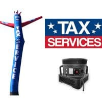 Tax Service Tube Man & Tax Services Vinyl Banner – Pack of 2 with Blower