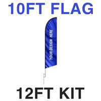 10ft Feather Flag - 12ft Kit