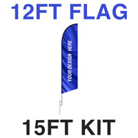 12ft Feather Flag - 15ft Kit