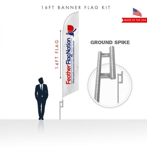 16ft Custom Feather Flag Kit