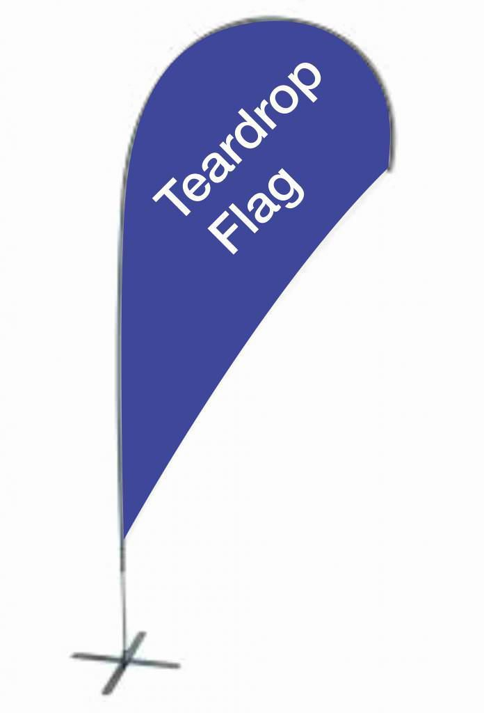 15ft advertising feather blade flag kit with cross base