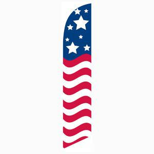 American glory feather flag - great for all patriotic events