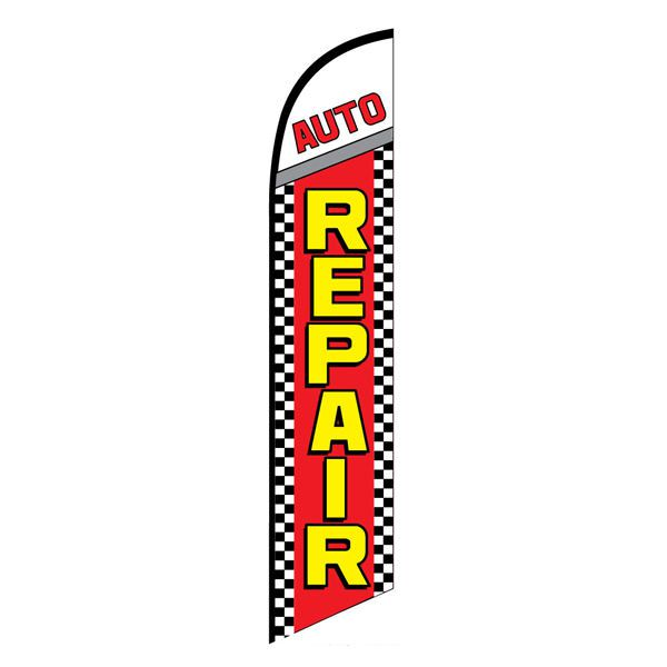 Auto Repair Advertising Flag for body shops that want to increase sales.