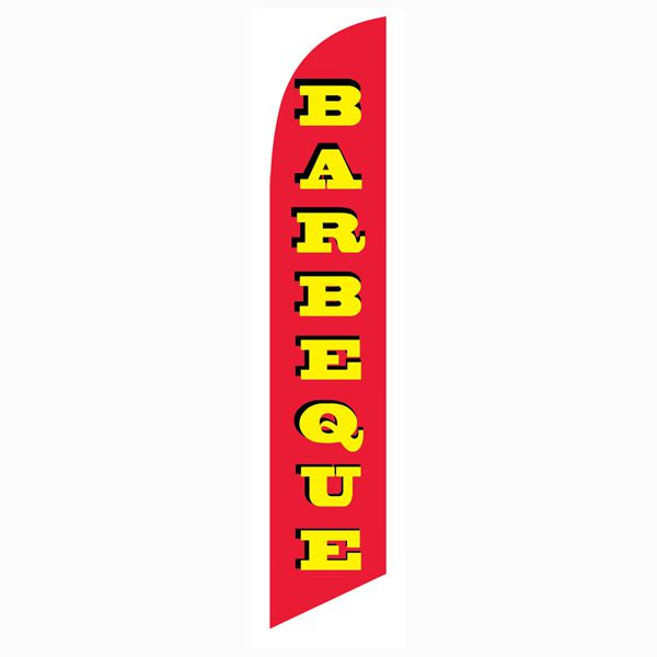 Increase your customer base with this Barbeque Feather Flag.