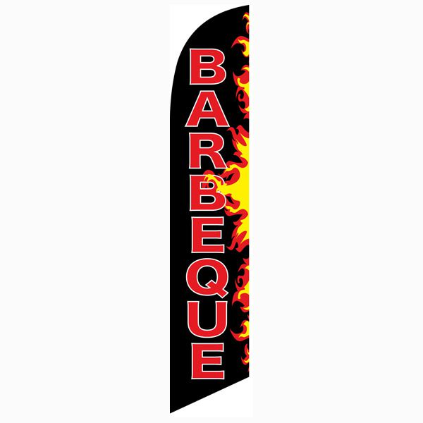Barbeque Flames Feather Flag will help you increase your traffic flow.
