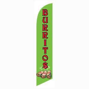 Use this Burritos Feather Flag as your outdoor advertising banner.