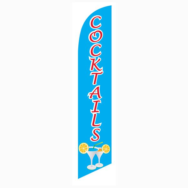 Cocktails Feather Flag to advertise your open bar and menu.