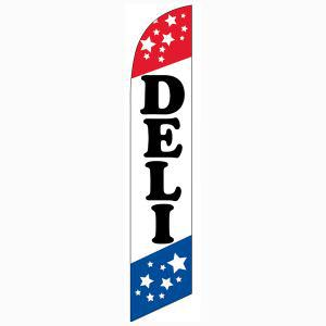 Use this deli feather flag to advertise your shop.  Easy to use.