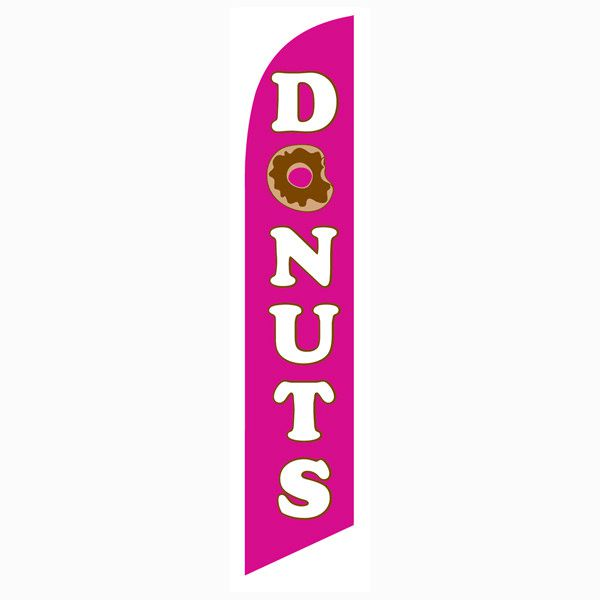 Make your donut shop stand out with this donuts feather flag.