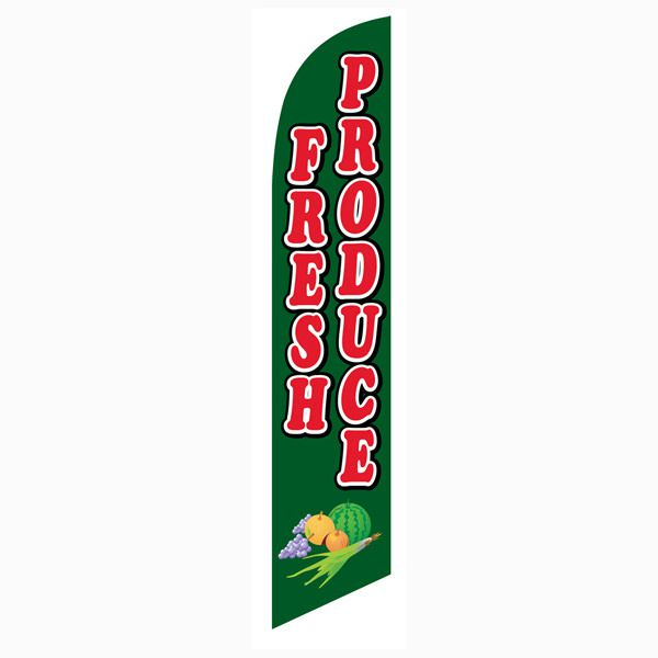 Fresh Produce Feather Flag to advertise your fresh fruits and vegies