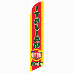 Make your shop stand out with this Italian Ice Feather Flag