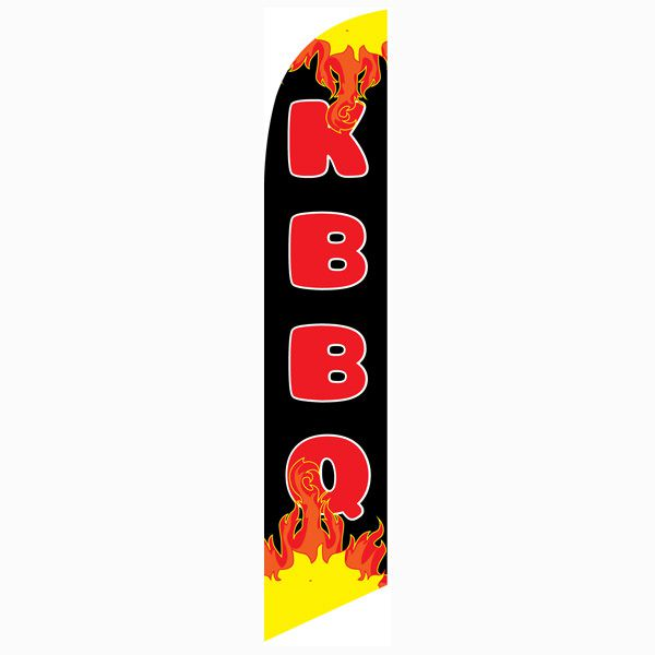 KBBQ Feather Flag to create some visual noise to bring more traffic.