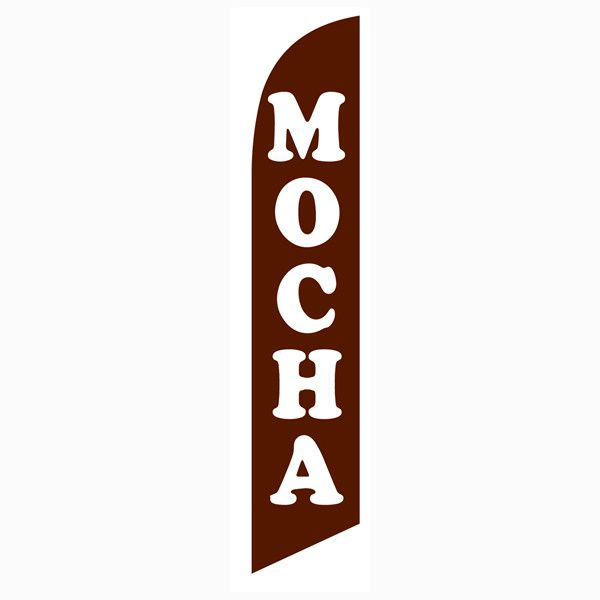 Mocha Feather Flag to reel in those awesome coffee addicts.