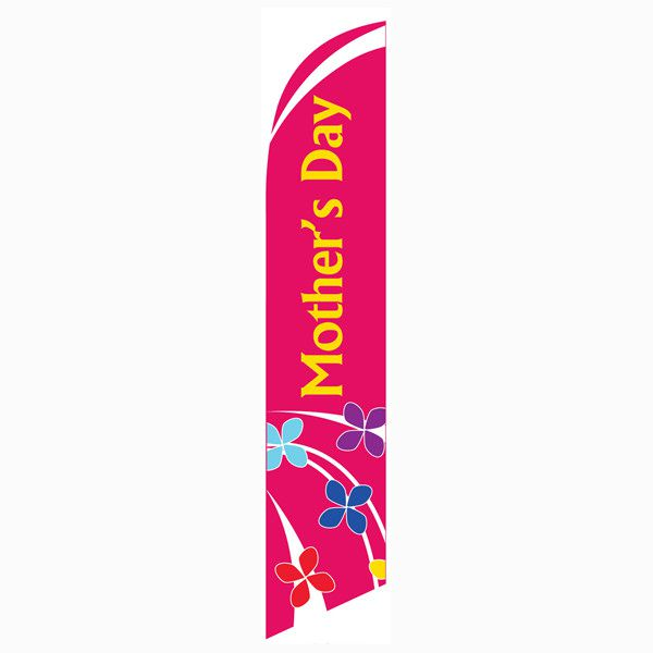 Mothers Day Feather Flag for easy outdoor church décor.