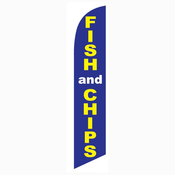 Fish and Chips Feather Flag for your restaurant advertising.