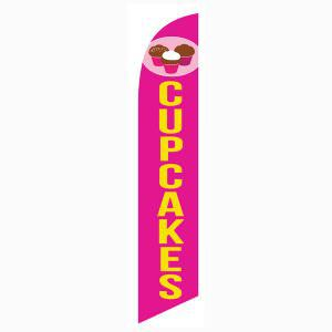 Cupcakes Feather Flag to bring in more customers and sales.