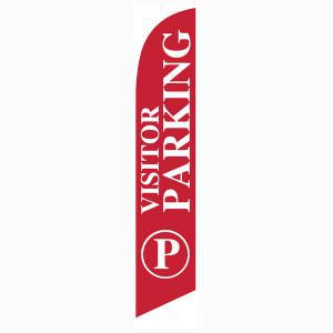 Visitor Parking Feather Flag to guide new members and guests.