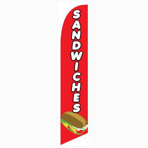 Sandwiches Feather Flag for all restaurants that serve tasty sandwiches.
