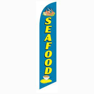 Use this Seafood Feather Flag to advertise your seafood menu options.