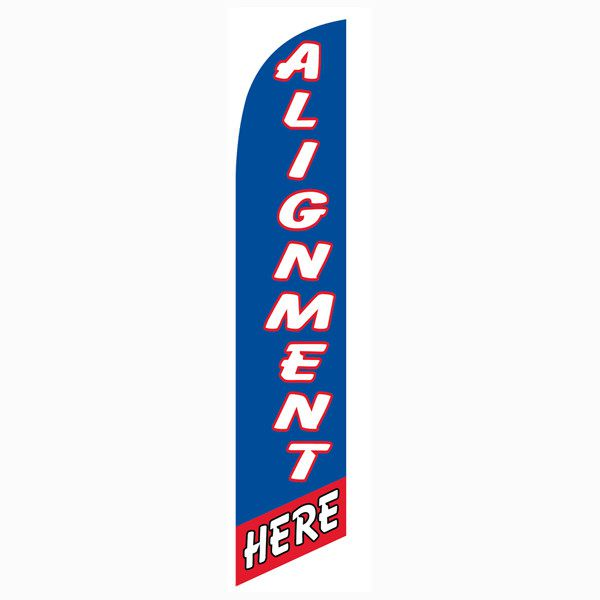 Red and Blue Alignment Here Outdoor Advertising Feather Banner Flag