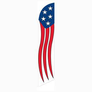 Our Patriotic festival feather flag is popular for outdoor décor.