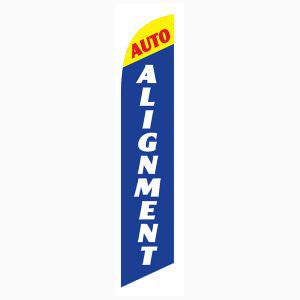 Blue and Yellow Auto Alignment Outdoor Advertising Feather Banner Flag
