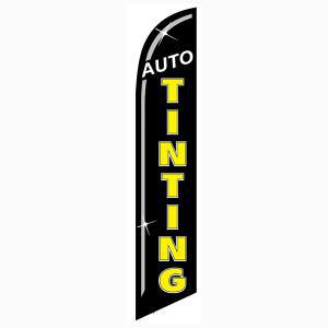 Black Auto Tinting Outdoor Advertising Feather Banner Flag