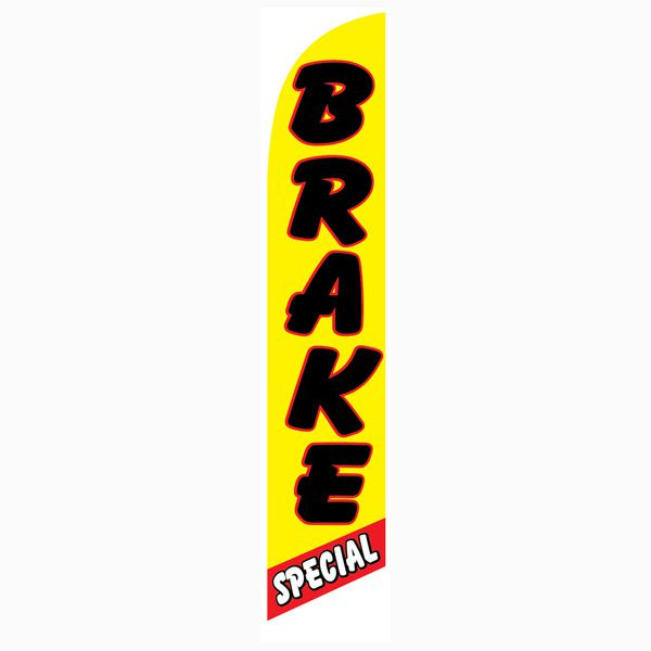 Yello and Red Brake Special Outdoor Advertising Feather Banner Flag