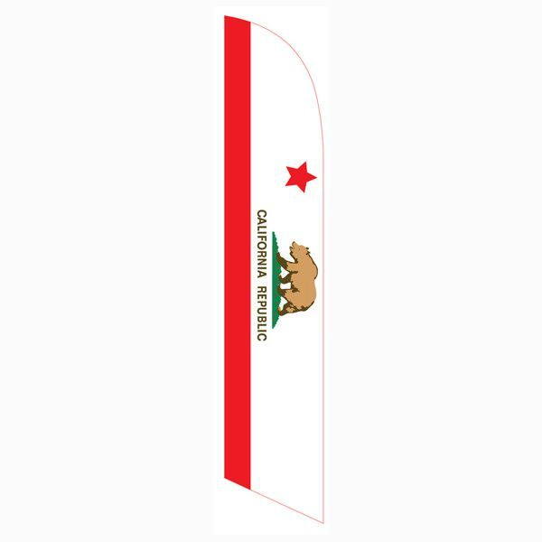 This California feather flag is often purchased with our American flag