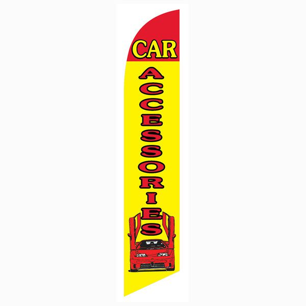 Car Accessories Yellow and Red Outdoor Advertising Feather Banner Flag