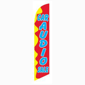 Red and Yellow Car Audio Sale Outdoor Advertising Feather Banner Flag
