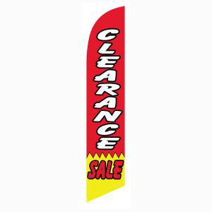 Every business needs a clearance sale feather flag.  Low cost!