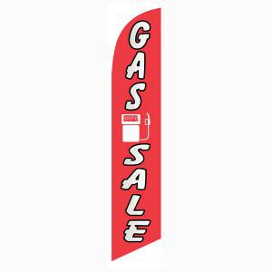 Low cost Gas Sale feather flag for long term outdoor advertising