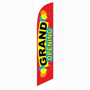 New business?  Purchase this red grand opening feather flag.