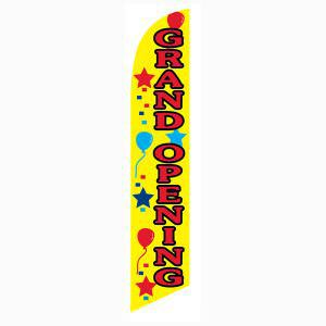 Now open?  Purchase this yellow grand opening feather flag for more sales.